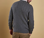 Barbour Cotton Cashmere Cable Crew Neck Jumper