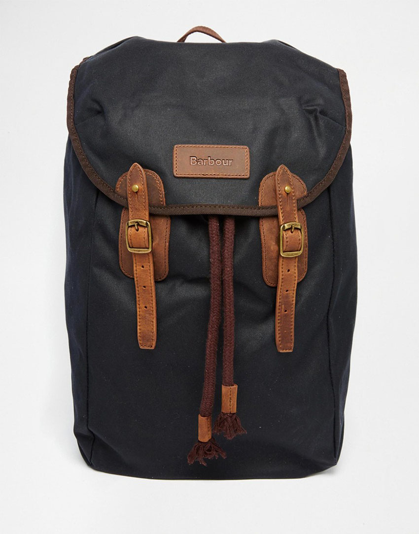 Barbour Wax Leather Backpack