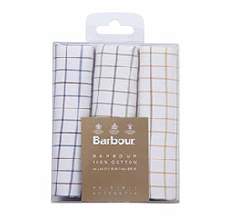 Barbour Triple Handkerchief Set, Tattersall